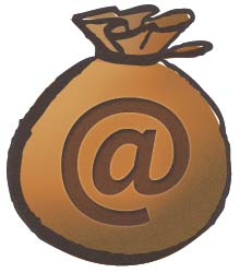 email money bags