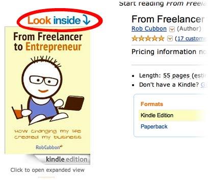 look inside on Amazon Kindle