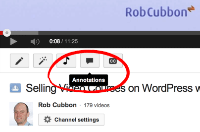 annotation button