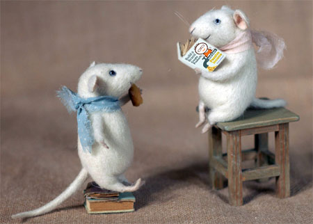 couple of mice reading my book