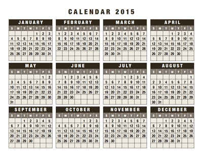download 2015 calendars