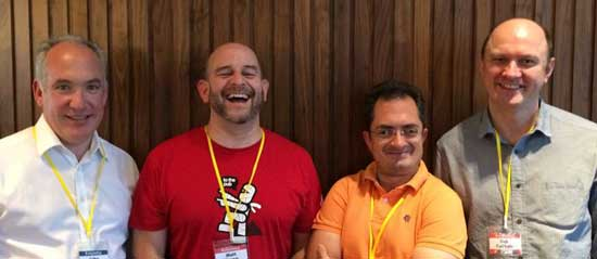 friends at the UK podcasters conference