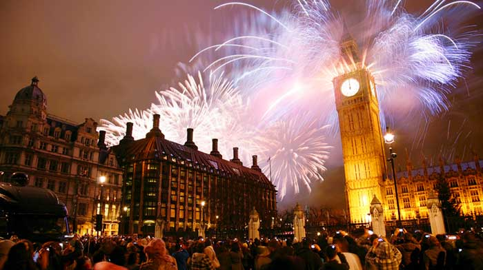 2015 new year in London