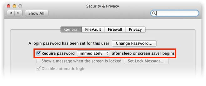 locking mac screen