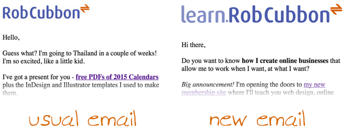 two email headers