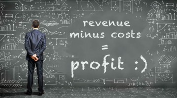 revenue minus costs equals profit