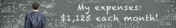 my-monthly-expenses-figure-blackboard