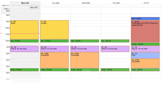 content timetable