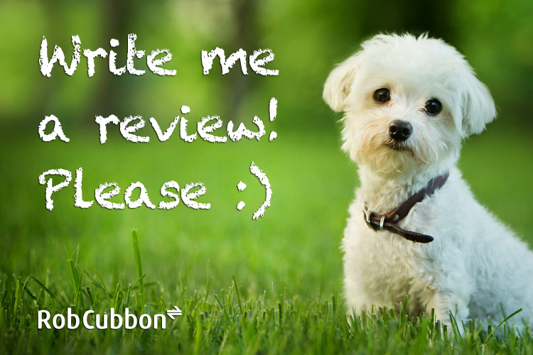 cute dog to get reviews