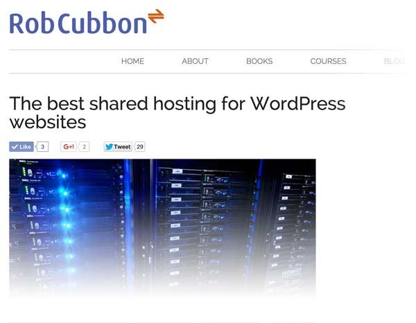 shared hosting article on robcubbon dot com