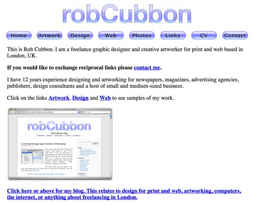 rob-cubbon-website-in-2006