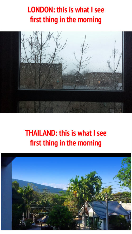london compared with thailand