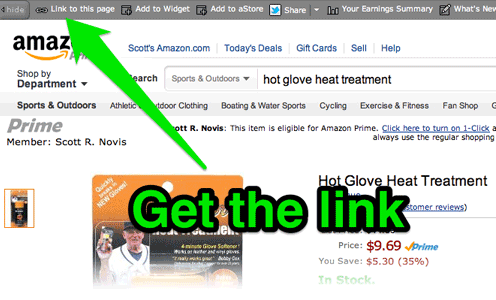amazon associates how to get an amazon affiliate link