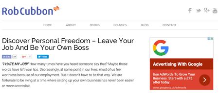 google adsense ad on my site's sidebar