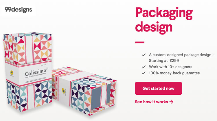 99designs packing design