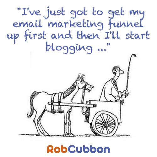cart before the blogging horse