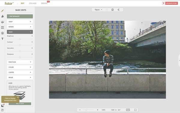 Fotor is an online photo editing tool that provides an alternative to Photoshop.