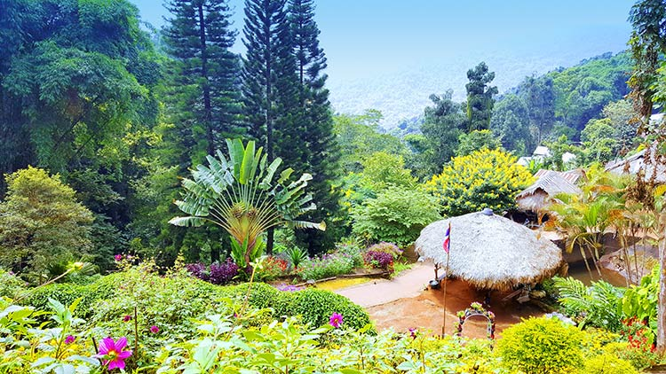 hill tribe village near chiang mai