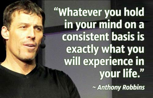 whatever you hold in your mind quote tony robbins