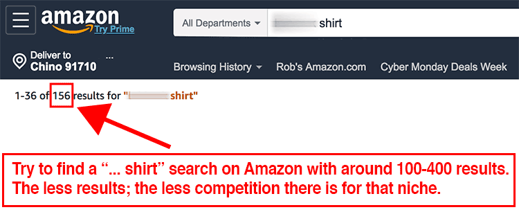 search amazon incognito results numbers for shirts merch