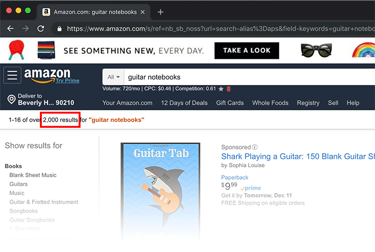 amazon results for guitar notebooks