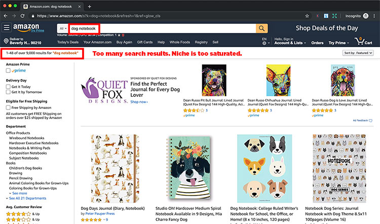 amazon search results for notebooks