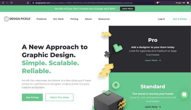 designpickle home page
