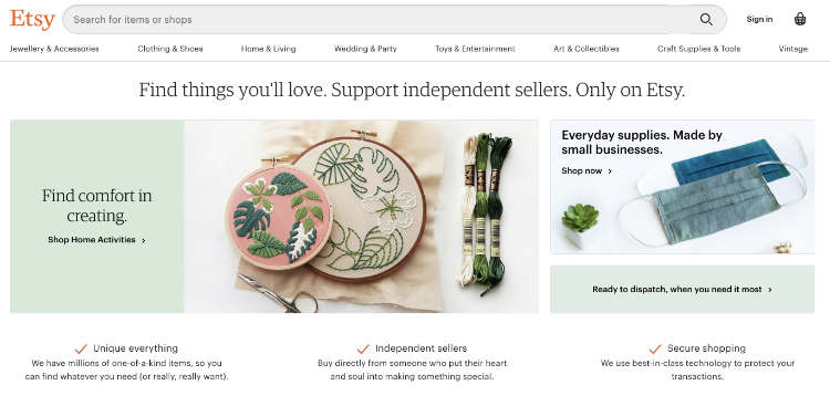 etsy homepage sell print on demand on etsy
