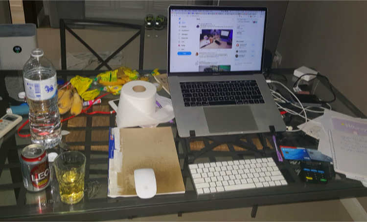 my work at home desk