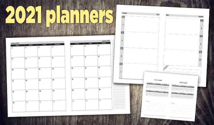2021 weekly and monthly planners for Amazon KDP